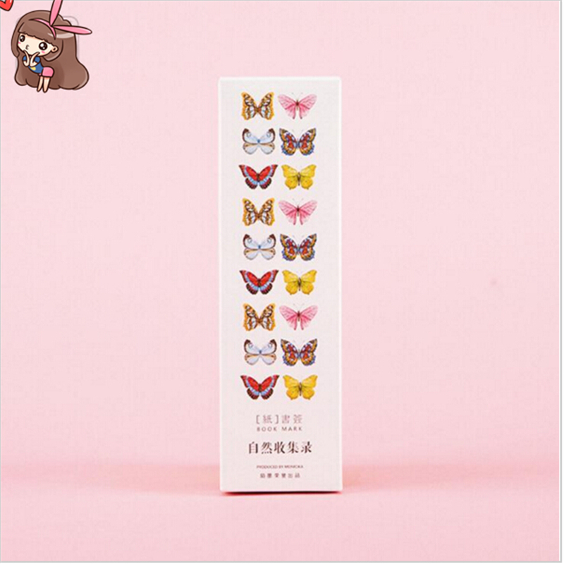Nature Les Collections Stationery Gift Promotional Movie Cartoons Animals Bookmark Paper School office supplies stationery(China (Mainland))