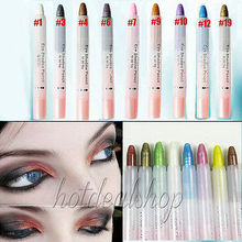 Hot sale Eye Eyeliner Pencil Eyeshadow Pen Shimmer Shadow Stick 9 Colors Optional Free&Drop shipping #1.1C10 (China (Mainland))