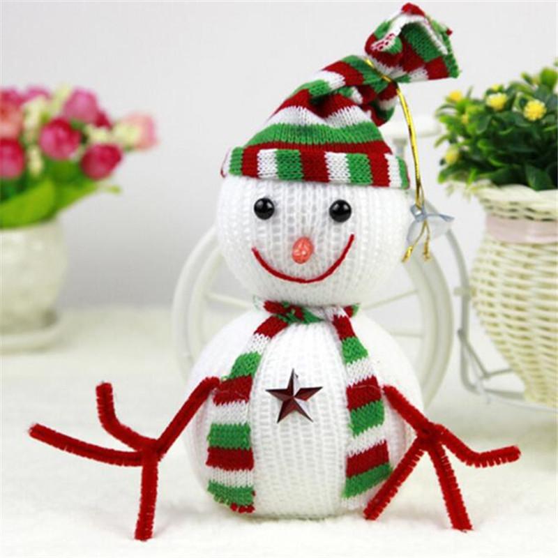 1PCS Snowman Christmas Decoration Ornaments kids baby cartoon animal Doll plush toys(China (Mainland))