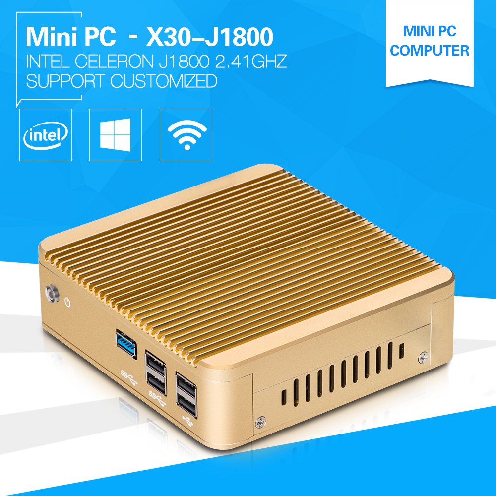 XCY Home Computer Dual-core PC J1800 2.4GHz Class Room Computer For Student Mini Computer 5*USB Aluminium Alloy case Fanless(China (Mainland))