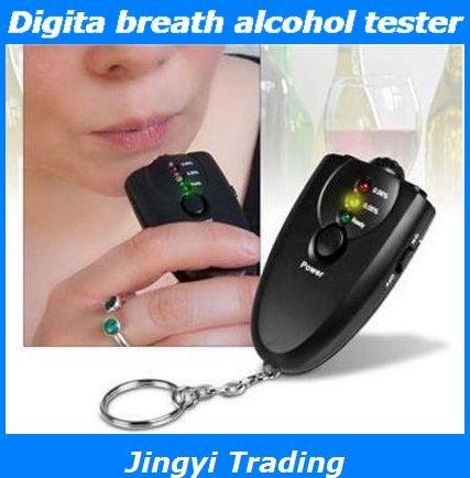 3 LED Keychain Digita breath alcohol tester Alcohol Detector with torch alcohol breath tester free shipping 8632(China (Mainland))