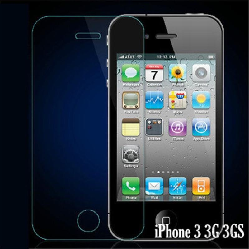 Ultra Thin Premium Explosion-Proof Front Tempered Glass Screen Protector Film for Apple iPhone 3 3G 3GS iphone3GS Cover Pelicula(China (Mainland))