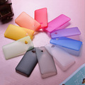 Free Shipping 2pcs lot Multicolor Ultra Thin 0 3mm Crystal Clear Soft Matte PP Back Cover