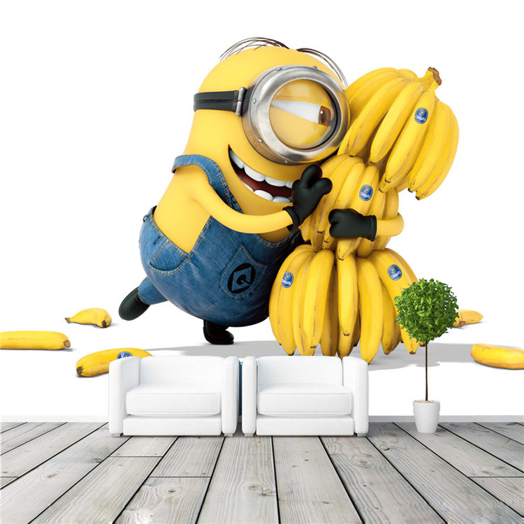 mignon minions et bananes bande dessin e papier peint film. Black Bedroom Furniture Sets. Home Design Ideas