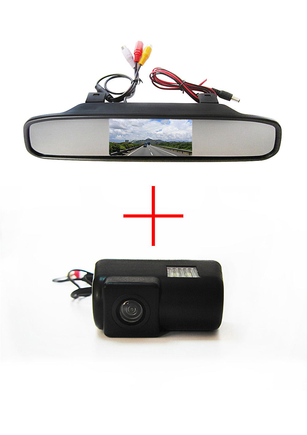 Здесь можно купить  Color CCD Chip Car Rear View Camera for Ford Transit connect + 4.3 Inch  rearview Mirror Monitor  Автомобили и Мотоциклы