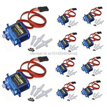 10 x Towerpro SG90 9g Mini Micro Servo for RC for RC 250 trex 450 Helicopter Airplane Car Motors For Arduino UNO Free Shipping(China (Mainland))