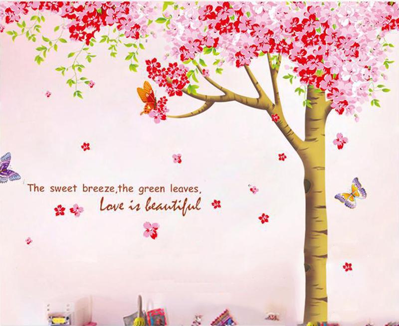 Popular cherry tree mural buy cheap cherry tree mural lots for Cherry tree mural