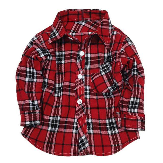 1 2 3 4 5 лет с длинным рукавом мальчиков, рубашки детская плед клетчатые рубашки малыш мальчик в девочке Одежда фланелевой клетчатой рубашке