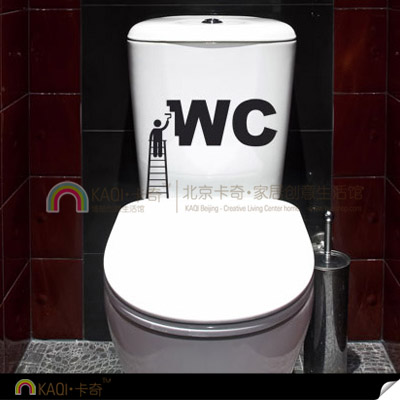 2016 direct selling new for tile modern small decor wc sign toilet stickers funny painting door - Decor wc ...