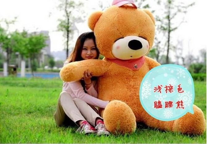 200CM/2M/78inch huge giant stuffed teddy bear animals baby plush toys dolls life size teddy bear girls gifts 2016 New arrival(China (Mainland))