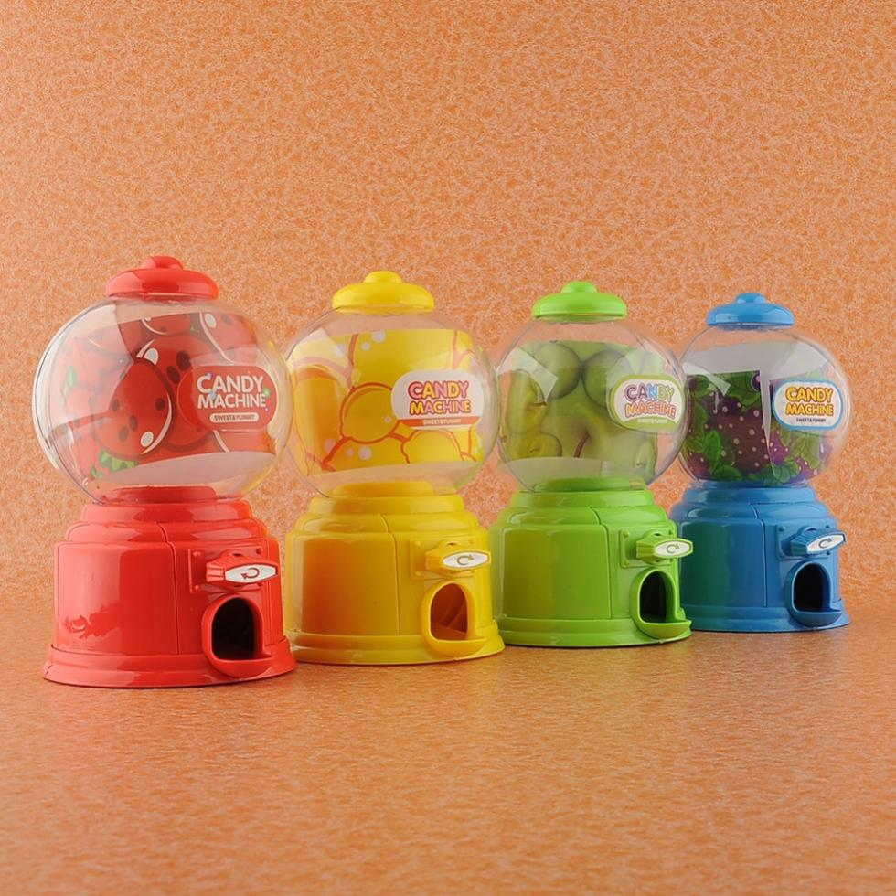 Cute Mini Candy Gumball Dispenser Vending Machine Saving Bank Coin Kids Toy Free Shipping(China (Mainland))