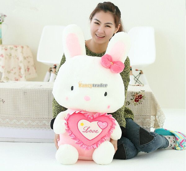 Fancytrader 31 / 80cm Soft Stuffed Giant Plush Heart LOVE Rabbit Bunny, 2 Colors Available, Free Shipping FT50764<br><br>Aliexpress