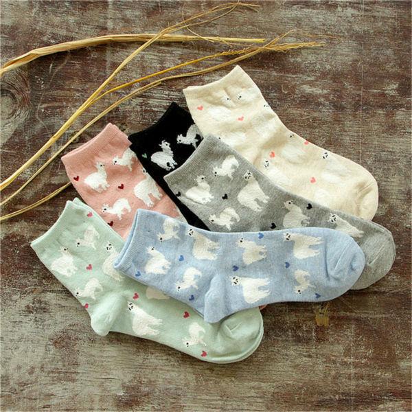 Новинка женщины альпака трубке носки японских милые женские животных мультфильм носок зима осень чистого хлопка носки