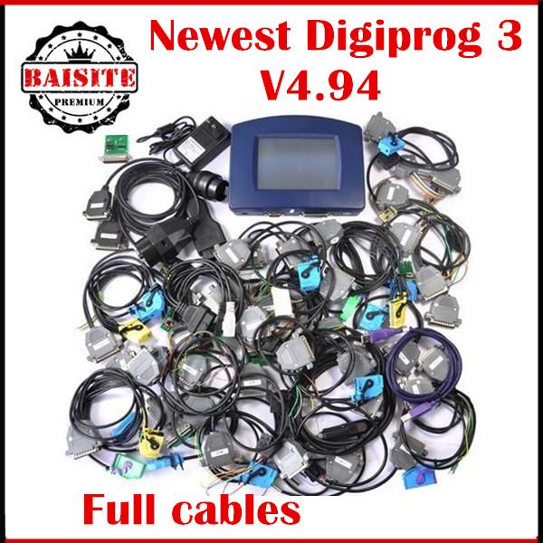 Newest Odometer Programmer Digiprog III V4.94 Multi language Digiprog 3 with all adapter Digiprog3 full set dp3 correction Tool(China (Mainland))