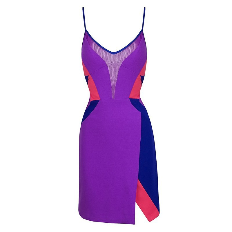 High-Quality-Women-Summer-Hot-Elegant-Dark-Purple-Strap-Patchwork-Casual-Party-Bodycon-Celebrity-Pencil-Sheath (2)