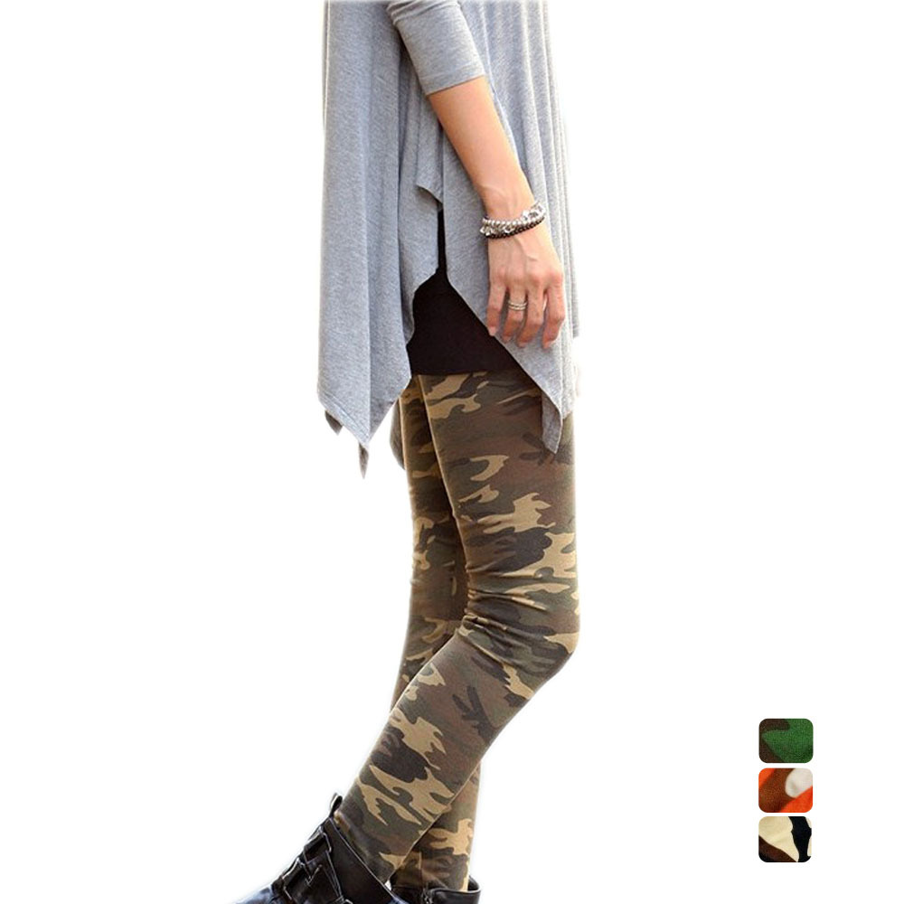 New Arrive Camouflage Elastic Leggings For Women Fitness Sexy Punk Legging Boots Pants(China (Mainland))