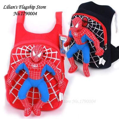 Прохладный 3d-паук мультфильм плюшевые мешок школы мода милый рюкзак подарок для детей Mochila Infantil горячая распродажа
