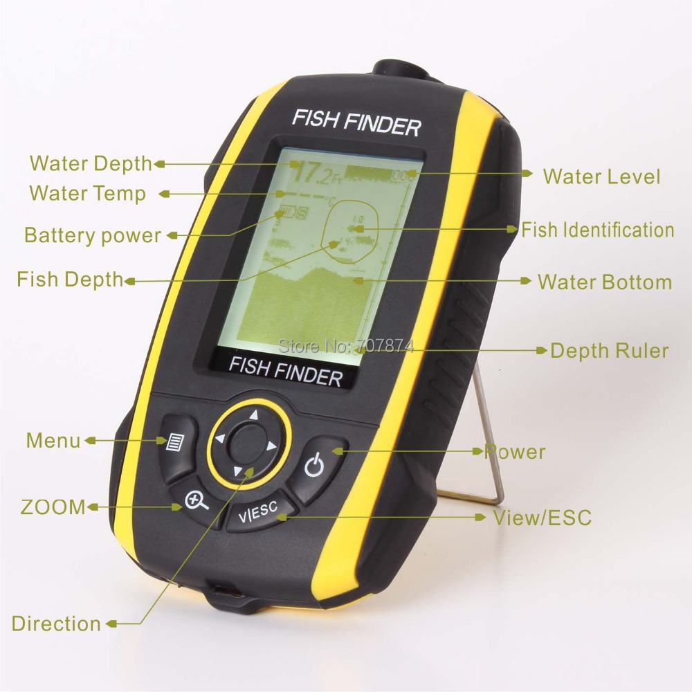 Free Shipping by E-EMS 2015 new arrival Built-in lithium battery 16 Levels Grayscale fish finder sonar depth finder(China (Mainland))