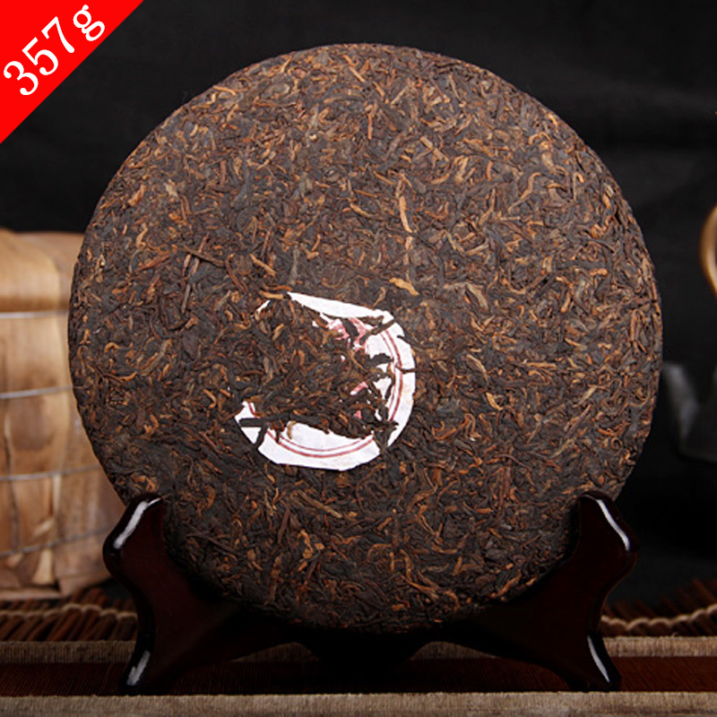 Good tea Ripe pu er tea 357g oldest puer tea ansestor antique honey sweet dull red