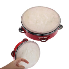 BS#S Educational Musical Tambourine Beat Instrument Hand Drum Children Toys Free Shipping(China (Mainland))