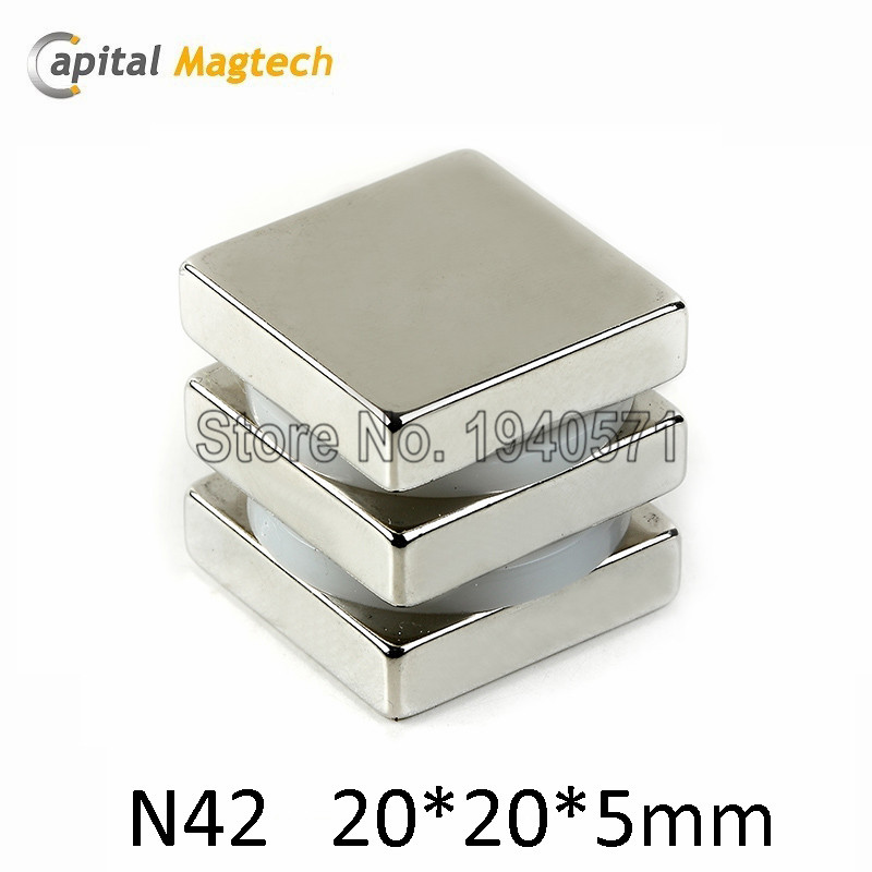 Free Shipping 5pcs N42 Block magnet 1*1*1/8inch Super Strong High Quality Rare Earth Magnet<br><br>Aliexpress