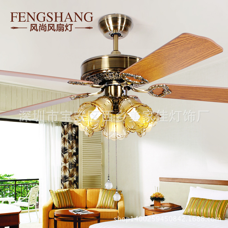 Continental Continental Restaurant Ceiling Fan creative fashion fan lights illuminated wooden living room(China (Mainland))