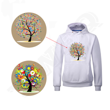 New Fashion Ladies Digital Tree Patches For Girls Clothes and Tights Easy By Household Irons A-level Washable DIY T-shirts(China (Mainland))