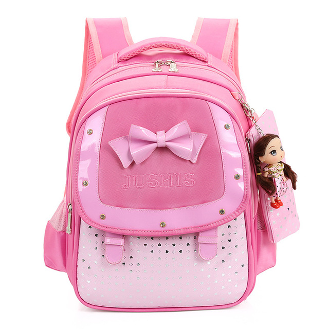 2016 новинка бабочка девушки школьные сумки дети рюкзак первичная Bookbag ортопедические ...
