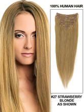 "Discount!! Oxette 9 pcs clip in hair extension #27(honey Blonde) 90g to 120g, 15""~24"" straight hair weaves Brazilian remy hair(China (Mainland))"