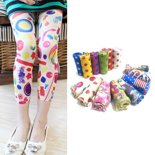 5-12Y Hot Children Girls Leggings Baby Stretch Skinny Pants Trousers Stockings 2015 New Freeshipping