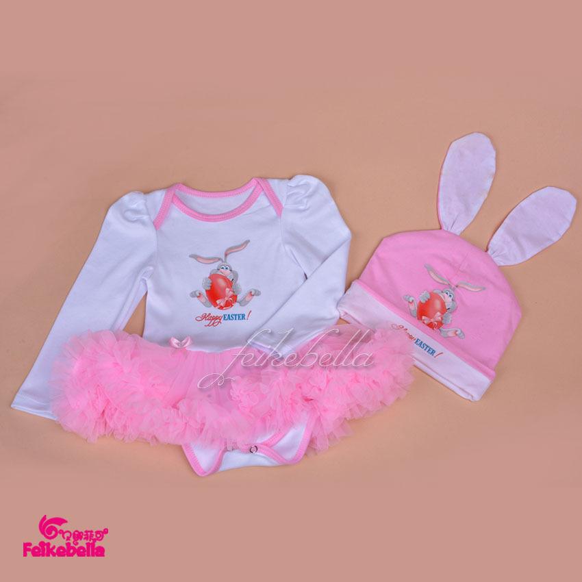 2015 Baby Girls Dress Easter Egg Pattern Romper Dress