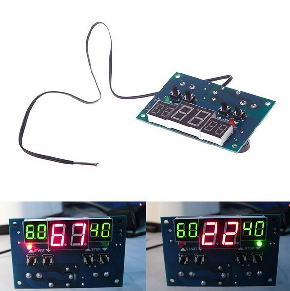 Lowest Price for DC 9V-15V Intelligent Digital LED Thermostat Temperature Controller 55266(China (Mainland))