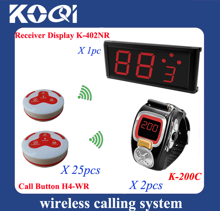 New arrival Wireless paging call button system show total calls information for cafeteria restaurant(China (Mainland))