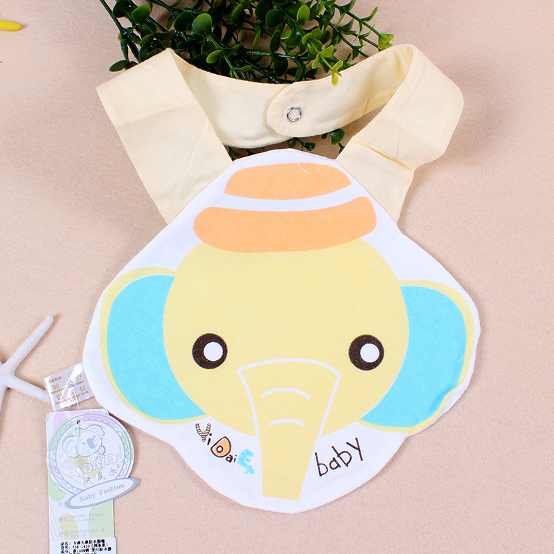 New Arrival Rushed Baby Bibs Elephant Character Unisex Kids Baberos 100% Pure Infant Burp Cloths Toddler Lunch Saliva Towel(China (Mainland))