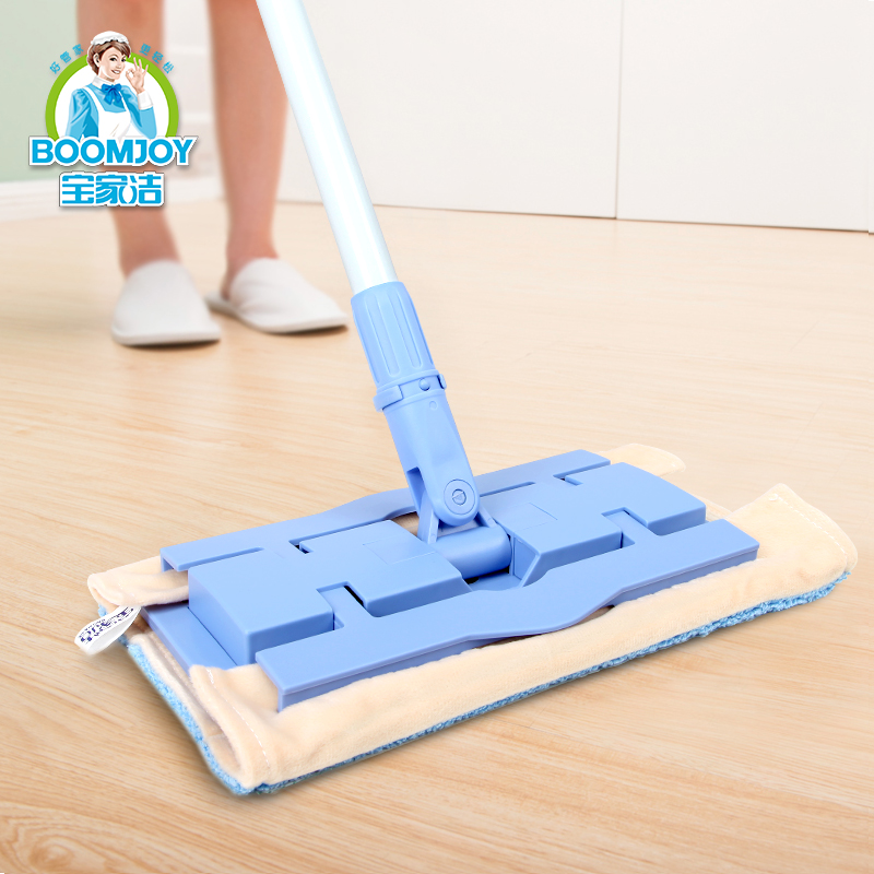 Big floor wipe flat mop rotate 360 degrees flat mop clamp towel mop household flat mop the floor(China (Mainland))