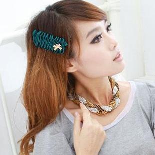 2013 caterpillar terylene ribbon spring clip interspersion bow hair accessory(China (Mainland))