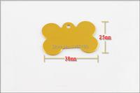 50 шт/много ПЭТ Теги id пользовательских кости двойной односторонний выгравированы собаки кошки очарование имя тега
