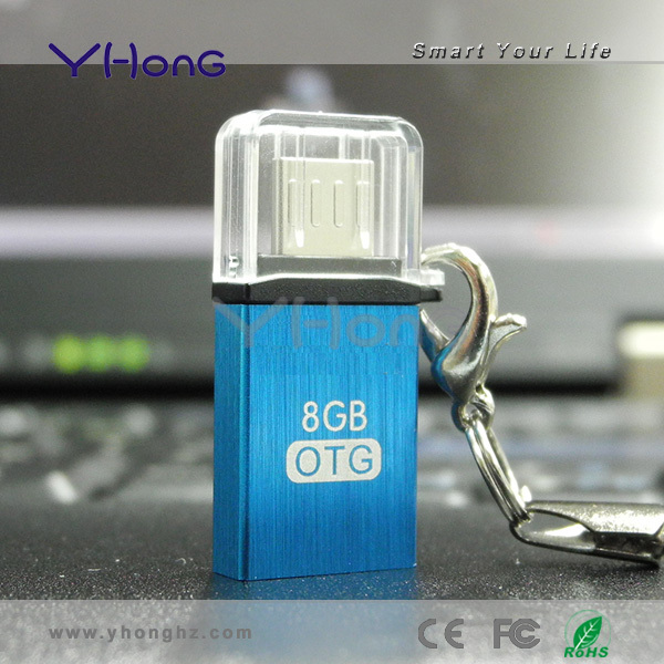 2014 newest USB2.0 mobile phone usb flash drive, with metal appearance design, has waterproof function otg usb2.0 flash drive(China (Mainland))
