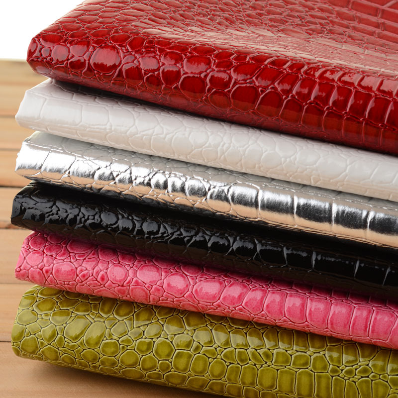 Faux Glitter PU Leather Crocodile Fabric ,Synthetic Leather , PU Artificial Leather Cloth for sewing material, Hide Wholesale(China (Mainland))
