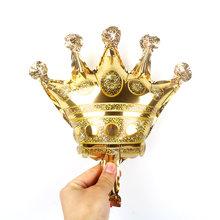 1 pc ขนาดใหญ่ 39 นิ้วมงกุฎฟอยล์บอลลูน Prince Princess Baby Shower 20 1st วันเกิด coroa ตกแต่งผู้ใหญ่ globos(China)
