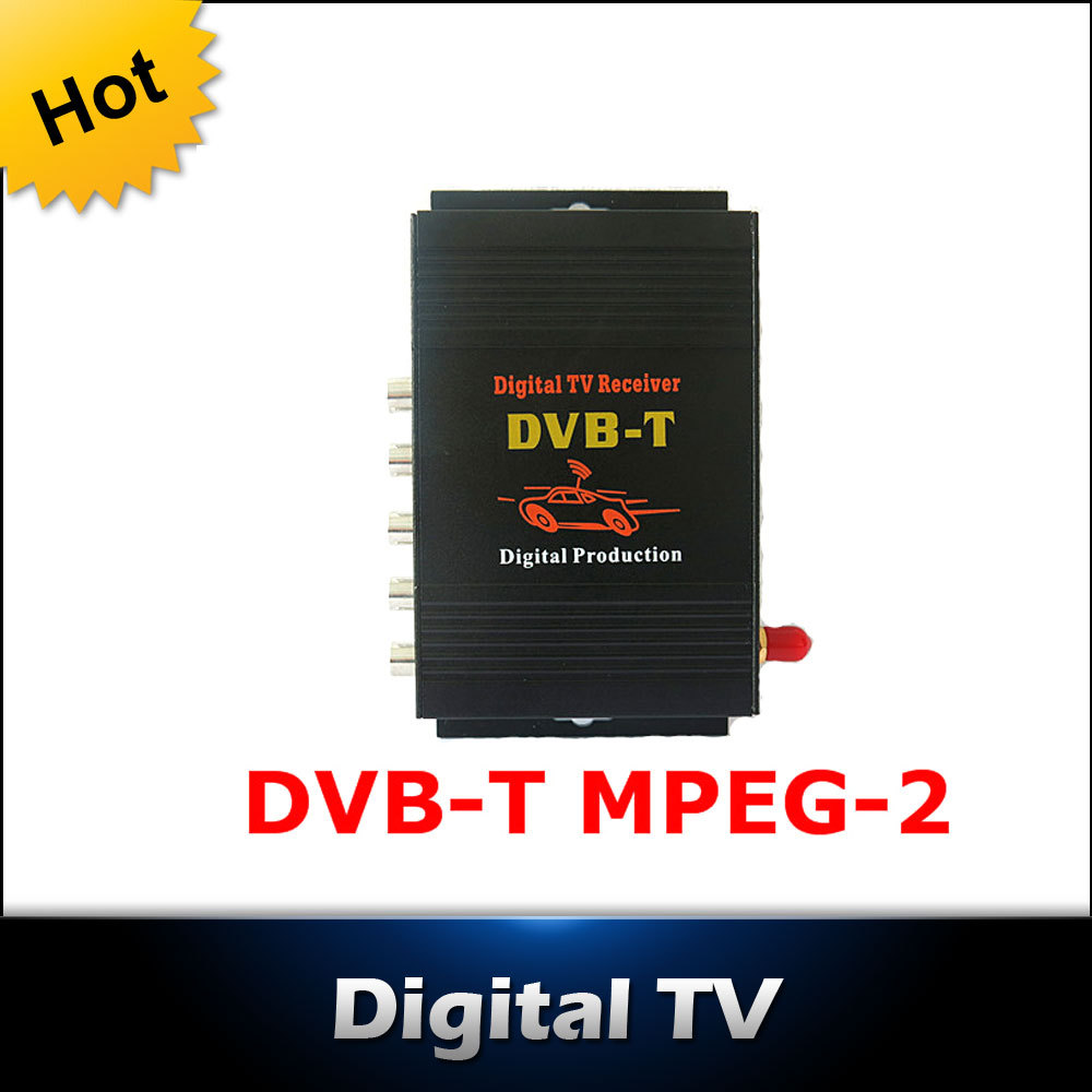 CAR DVB-T MPEG-4 MOBILE DIGITAL TV TUNER Receiver free shipping<br><br>Aliexpress
