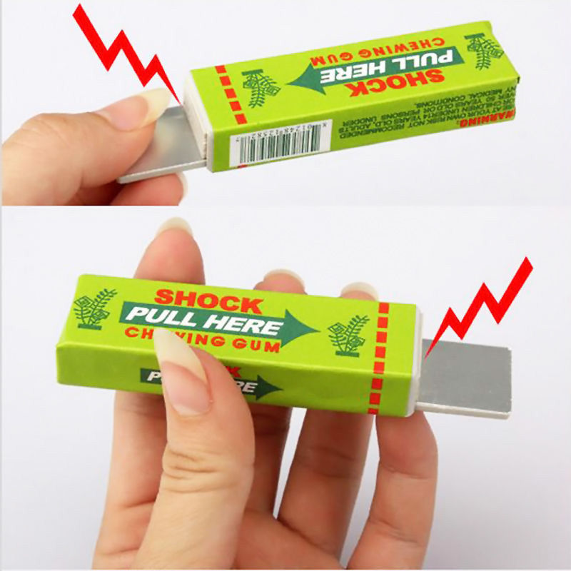 New Arrive Safety Trick Joke Toy Electric Shock Shocking Chewing Gum Pull Head Top Sale(China (Mainland))