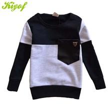 2015 Spring Kids T-shirts Color Matching Cotton Long Sleeve T Shirt For Boy Casual Fashion Retail 1PC ZZ2944(Hong Kong)