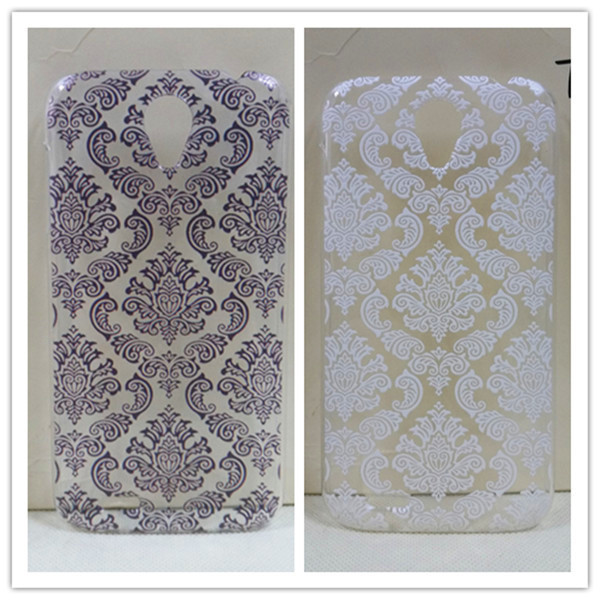 Lenovo A859 Cases, Vintage Black Paisley Flower Hard Floral Plastic Back Cover Skin Case - All gadgets cooperation store