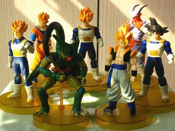 Free Shipping,Japan Anime Dragon Ball Z 7Pcs/set  PVC Action Figure SIZE:4.7Inch12CM Heiht