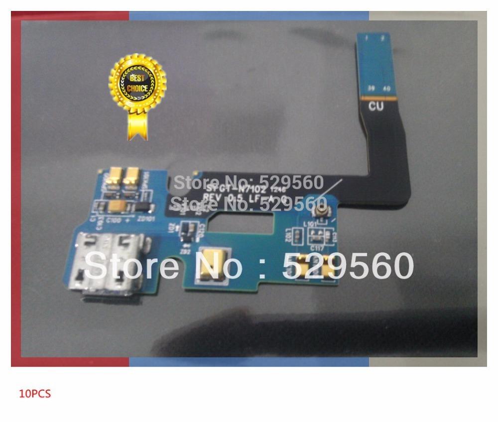 100%рабочий оригинальный зарядное устройство зарядка usb Dock порт Разъем Flex кабель для Samsung Galaxy Примечание 2 II для модели GT-N7102 свободный корабль 10шт