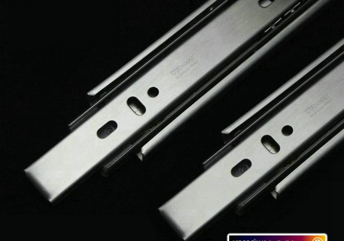 Three rail stainless steel rail track rail drawer slide mute slide(China (Mainland))