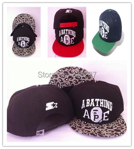 1pc/lot2014 Unisex Bape x StarterBBOY Snapback Hip Hop Cap Baseball Skateboard Hat YS9055 - HUO LE 238237 store