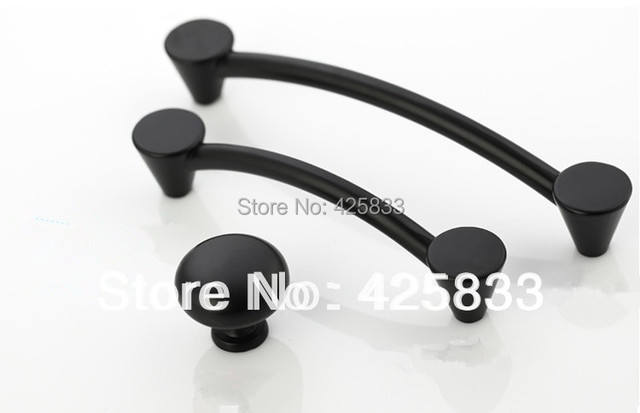 8pcs 96mm Matte Black Kitchen Pulls Classical Thick Handles Top Quality Drawer Knobs Aesthetics Cupboard Closet