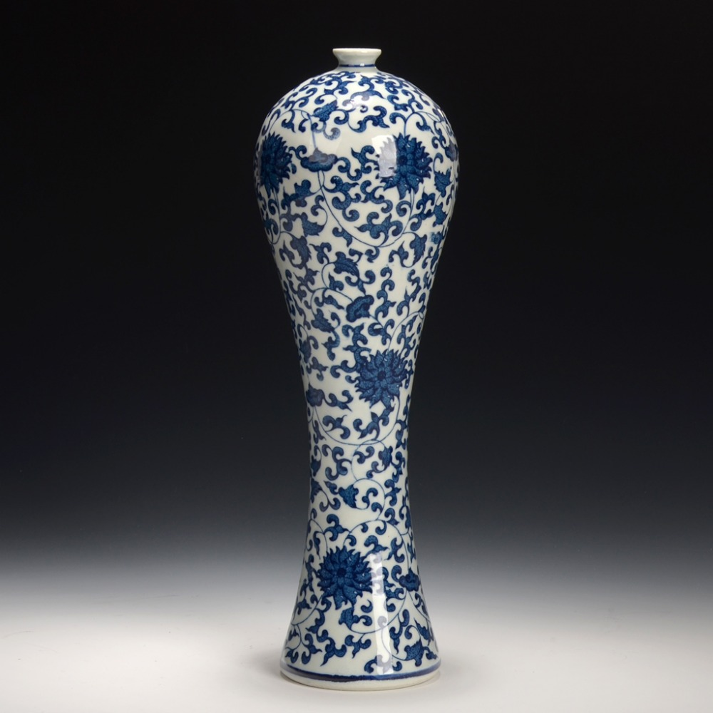 Archaize Chinese Blue And White Porcelain Vase Home